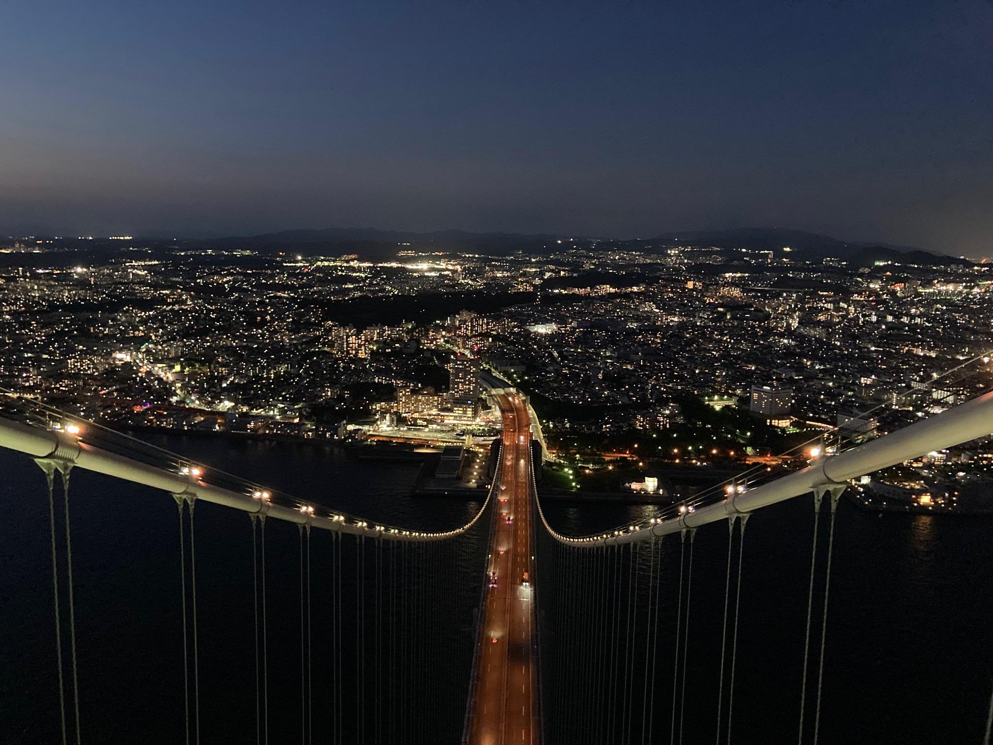 ①【10/29(金)、11/15(月)出発】明石海峡大橋ナイトツアー~架橋はじめ物語~横から、上から、下からすべての角度から明石海峡大橋を